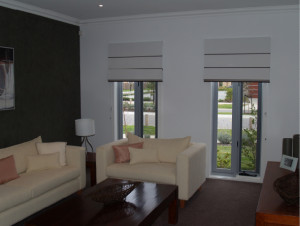 Roman Blinds in Lounge Room